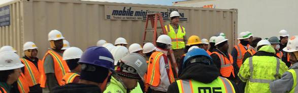 Robert Layman Conducts Site Safety Training